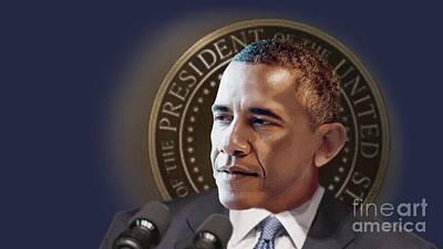 Digital Art - President Obama by Joseph Juvenal