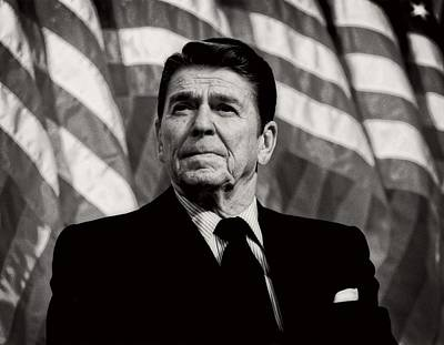 President Ronald Reagan Speaking - 1982 Art Print