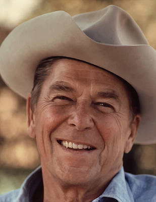 Politicians Photograph - President Ronald Reagan by War Is Hell Store
