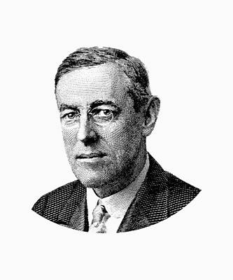 Democratic Party Digital Art - President Woodrow Wilson Graphic by War Is Hell Store