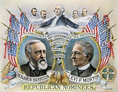 Presidential Campaign, 1888 Art Print