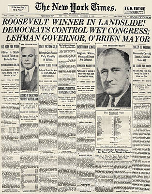 Photograph - Presidential Campaign, 1932 by Granger
