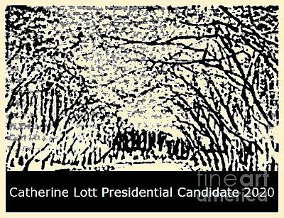 Painting -  Presidential Candidate 2020 Catherine Lott by Catherine Lott
