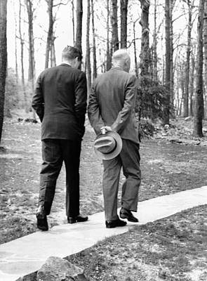 Rs2wn Photograph - Presidents Dwight Eisenhower And John by Everett