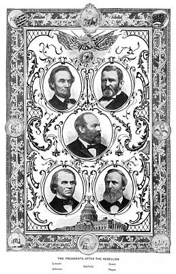 Drawing - Presidents.  by Granger