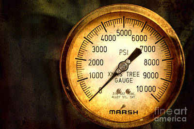 Photograph - Pressure Gauge by Charuhas Images