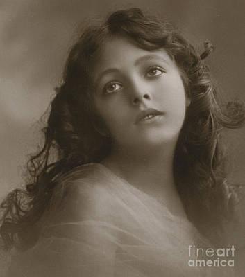 Cheeks Photograph - Pretty Girl, Day Dreaming  by English School
