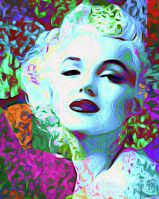 Topless Mixed Media - Primatic Marilyn Monroe by Chris Andruskiewicz