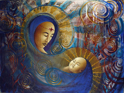 Primordial Mother Gives Birth To Solar Father Original by Stephen Lucas