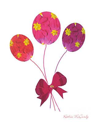 Primroses Mixed Media - Primrose Balloons by Kathie McCurdy