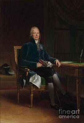 1754 Painting - Prince De Benevent by Celestial Images