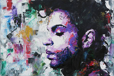 Purple Painting - Prince by Richard Day