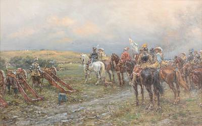 Prince Rupert Painting - Prince Rupert At Marston Moor by Ernest Crofts