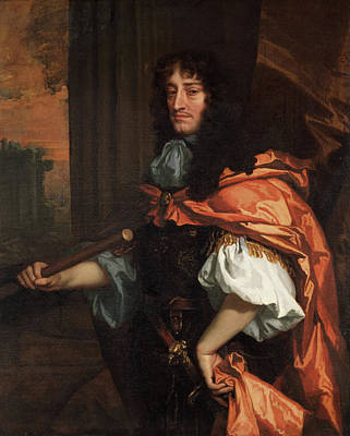 Indoor Painting - Prince Rupert Of The Rhine by Peter Lely