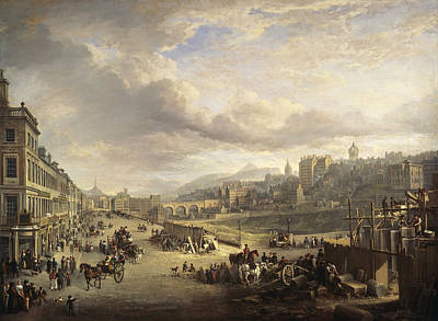 Painting - Princes Street With The Commencement Of The Building Of The Royal Institution by Alexander Nasmyth
