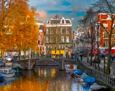 Art Print featuring the photograph Prinsengracht 807. Amsterdam by Juan Carlos Ferro Duque