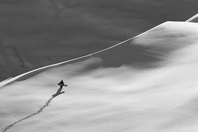 Gigi Photograph - Professional Snowboarder, Gigi R by Dean Blotto Gray