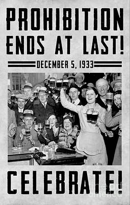 Bar Photograph - Prohibition Ends Celebrate by Jon Neidert