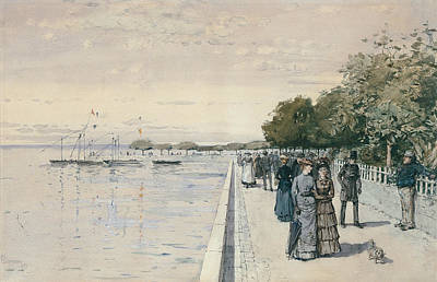 Drawing - Promenade by Childe Hassam