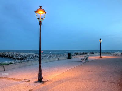 Photograph - Promenade Near The Sea, Saintes-maries-de-la-mer, France, Hdr by Elenarts - Elena Duvernay photo