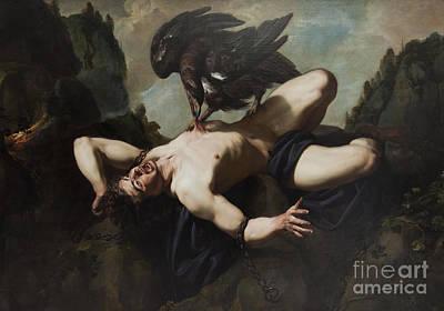 Prometheus Painting - Prometheus  by Celestial Images