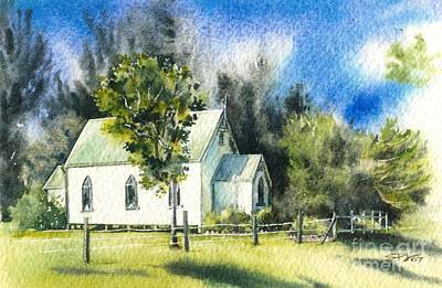 Promised Land Church Art Print by Sandra Phryce-Jones