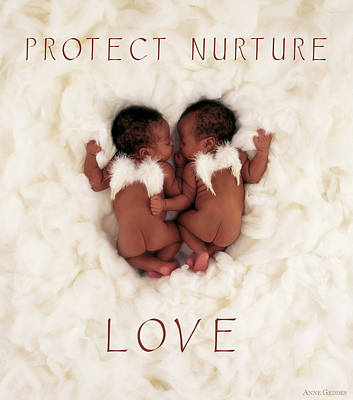 Print featuring the photograph Protect Nurture Love by Anne Geddes