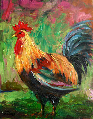 Painting - Proud Rooster by Lucy Williams