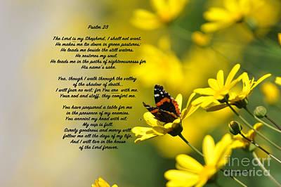 Psalm 23 Art Print by Debby Pueschel