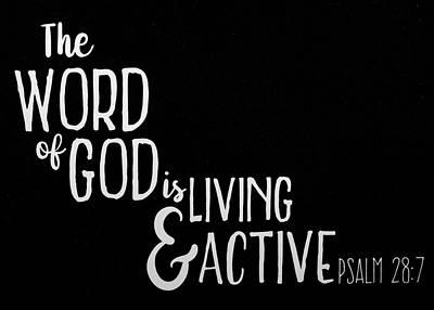 Photograph -  Psalm 28 7 Scripture Verses Bible Art by Reid Callaway