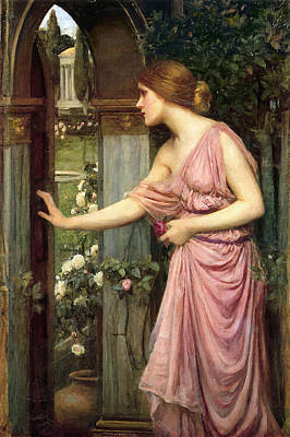 Painting - Psyche Entering Cupid's Garden by John William Waterhouse