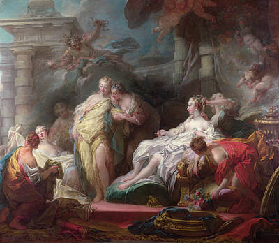 Baroque Painting - Psyche Showing Her Sisters Her Gifts From Cupid by Jean-Honore Fragonard