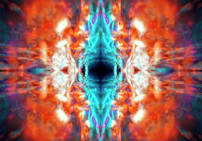 Digital Art - Psychedelic Kaleidoscope by Steve Ball