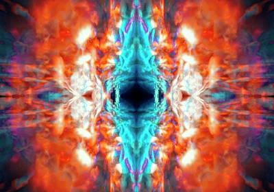 Digital Art - Psychedelic Kaleidoscope by Steve Ball