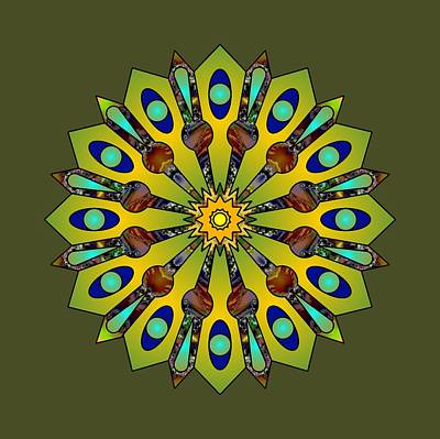 Digital Art - Psychedelic Mandala 004 A by Larry Capra