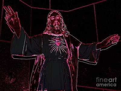 Digital Art - Psychedelic Saviour by Ed Weidman