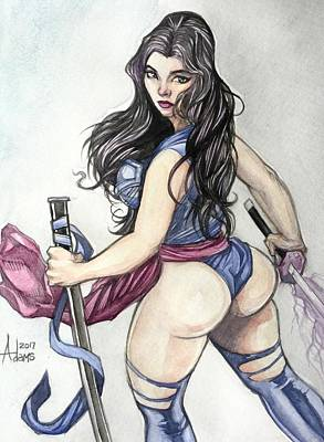 Painting - Psylocke by Jimmy Adams