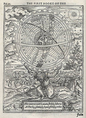 Ptolemaic System, Geocentric Model, 1531 Art Print by Folger Shakespeare Library