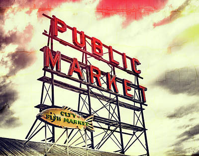 Digital Art - Public Market by Susan Stone