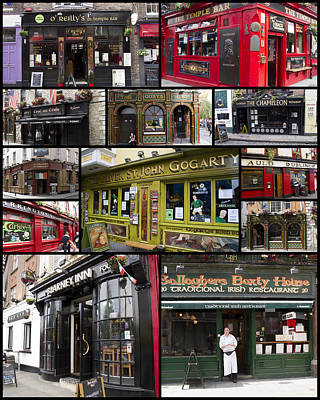 Pubs Of Dublin Art Print
