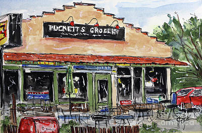 Pucketts Painting - Puckett's Grocery by Tim Ross