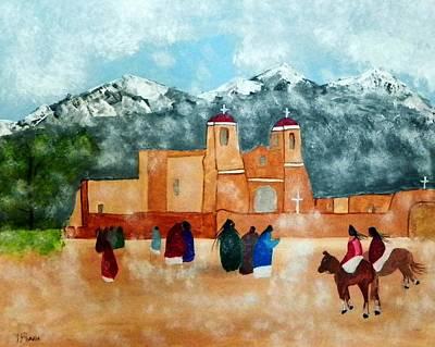 Painting - Pueblo Church by Joseph Frank Baraba