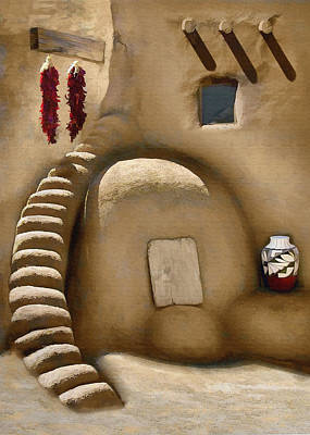 Pottery Digital Art - Pueblo Oven by Sharon Foster