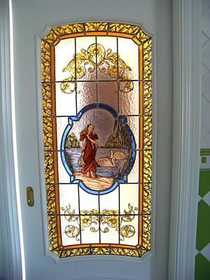 Glass Art - Puerta De Paso Motivo Griego by Justyna Pastuszka