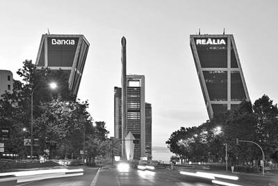 Photograph - Puerta Europa Madrid Spain by Marek Stepan