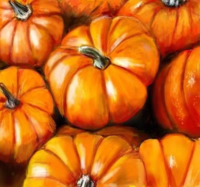 Pumpkin Harvest Art Print by Lincoln Howes