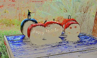 Drawing - Pumpkin Holiday by David Lee Thompson
