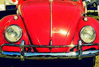 Photograph - Punch Buggy Red by Laurie Perry