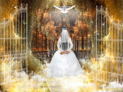 Digital Art - Pure Bride by Dolores Develde