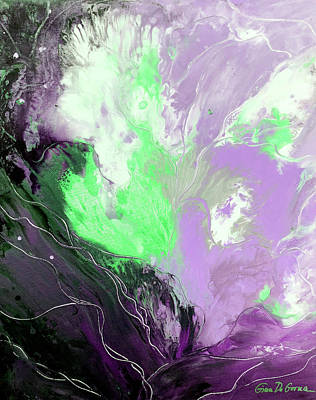 Painting - Purple Abstract by Gina De Gorna